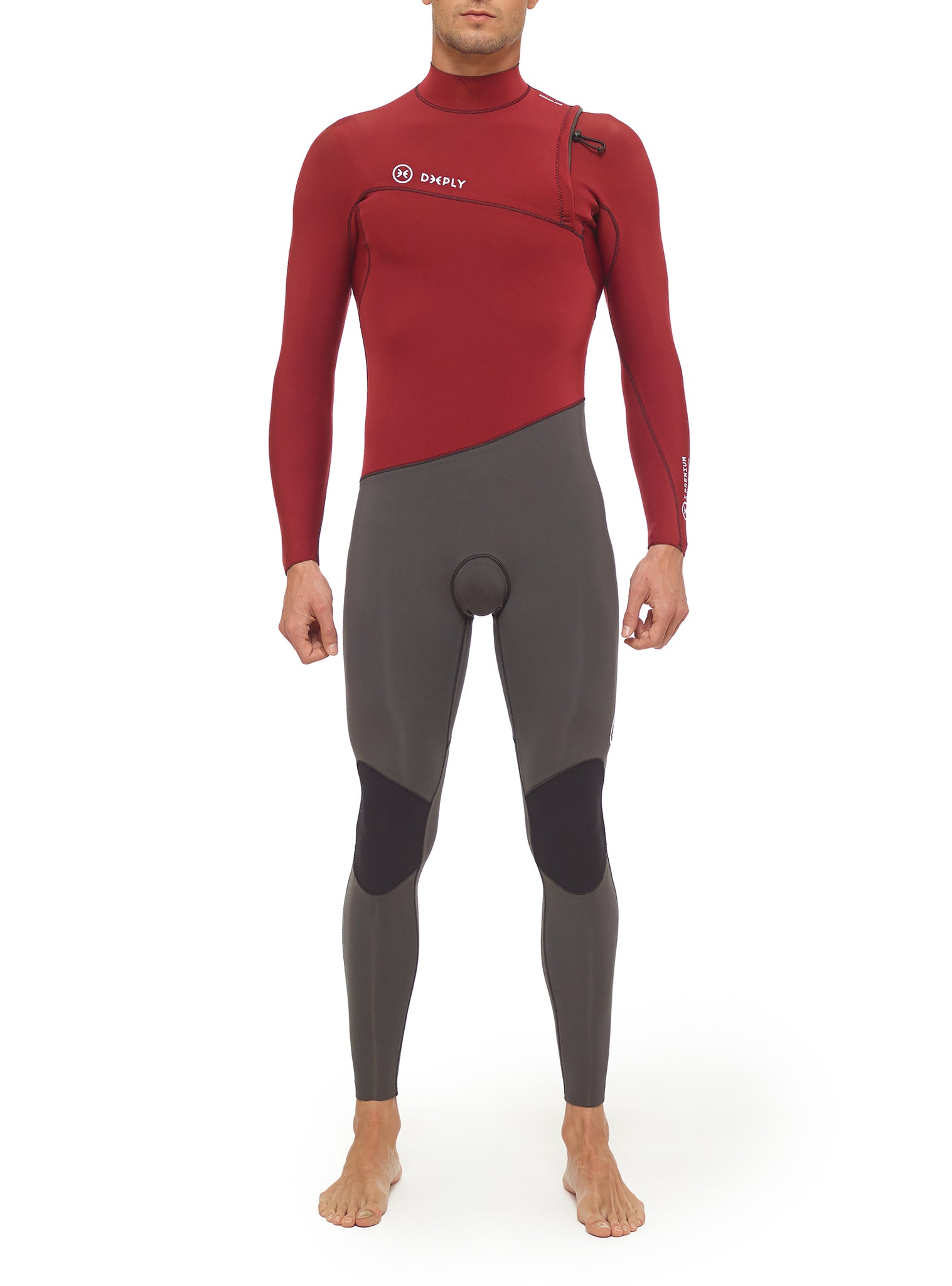 Combinaisons De Surf Homme Premium 3/2 Zipperless Rouge