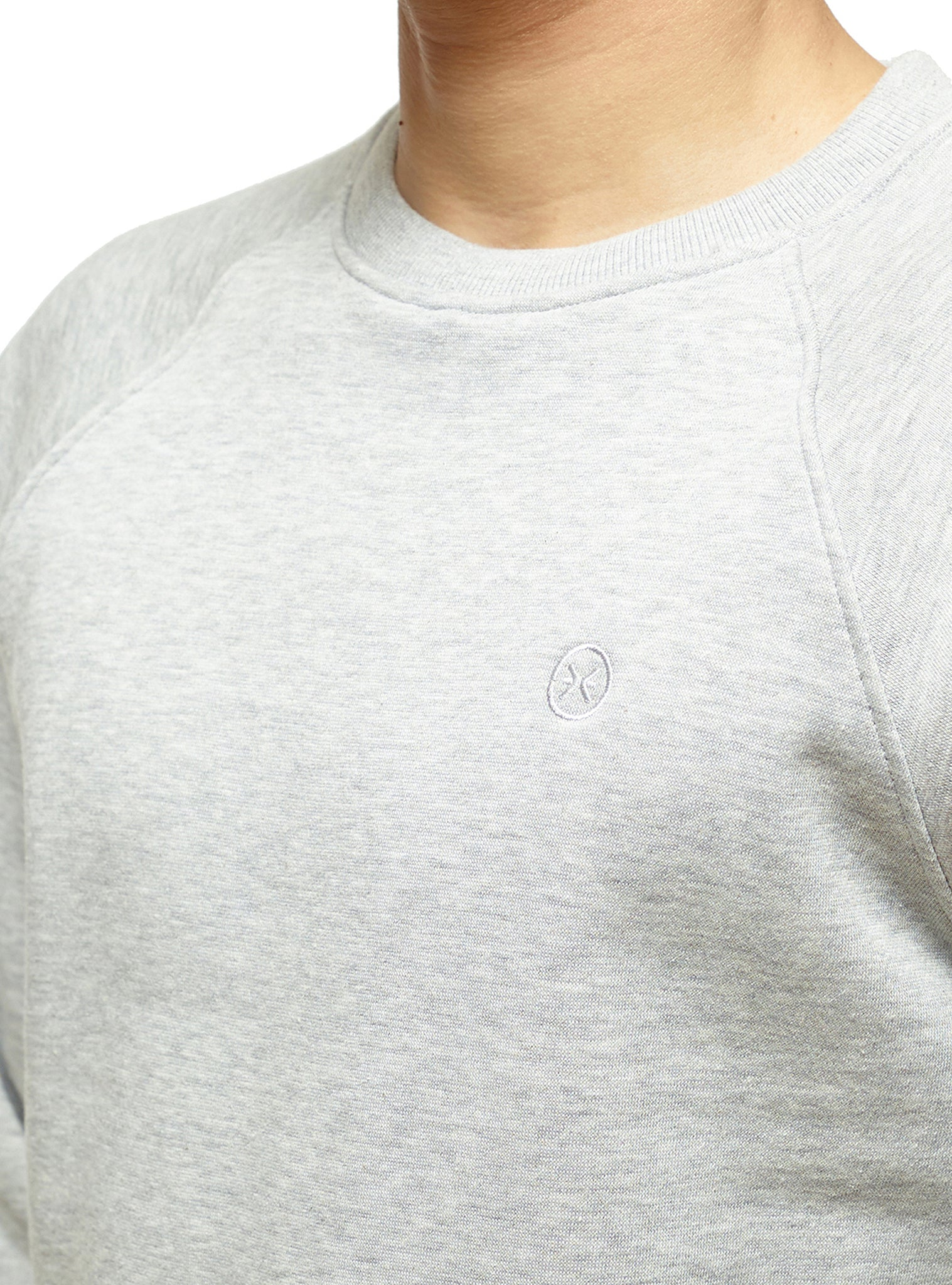 Embroidery Sweat Gris