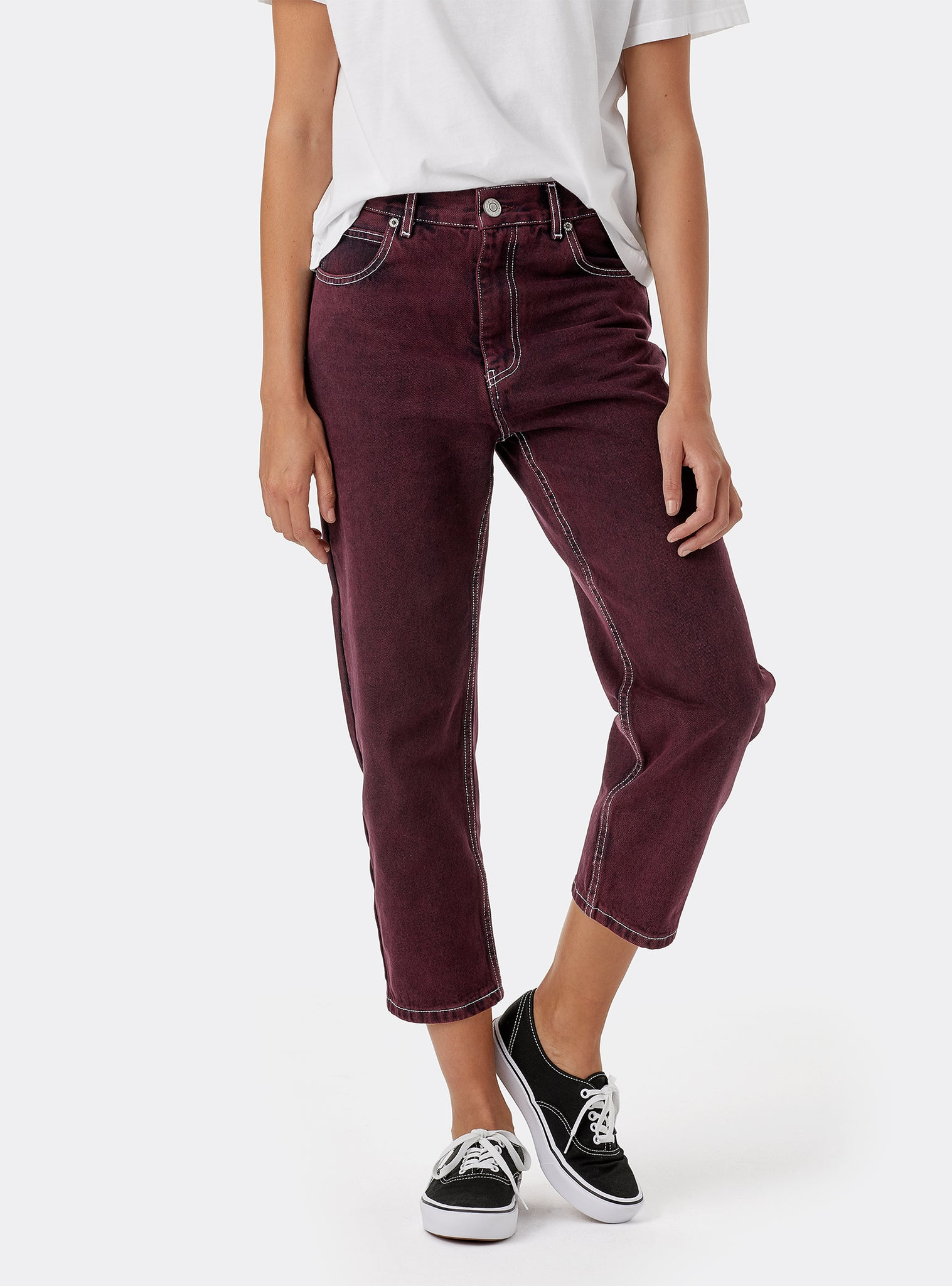 Barrel Pantalons Rouge