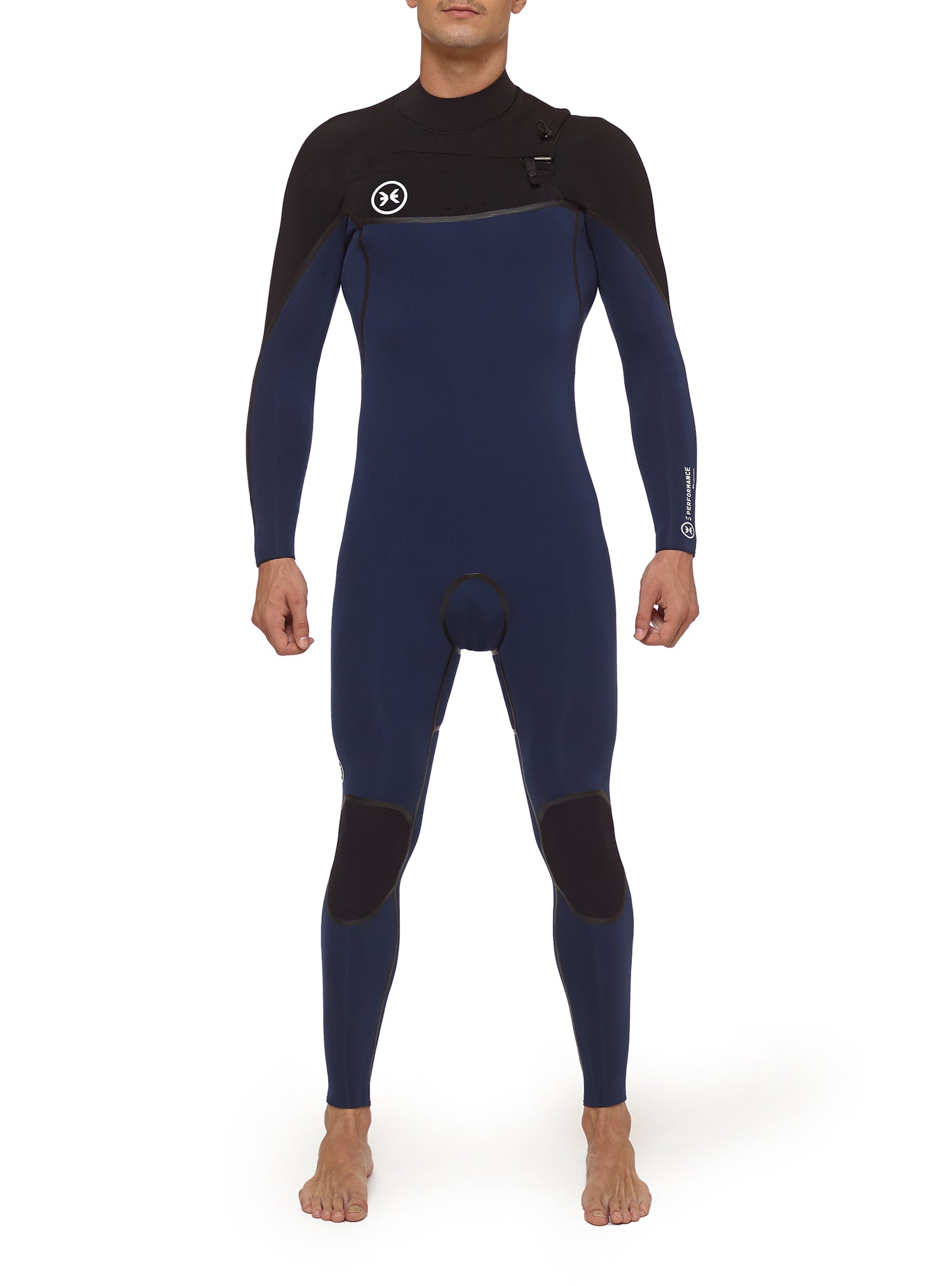 Combinaisons De Surf Homme Performance 4/3 Chest Zip Noir/Blue