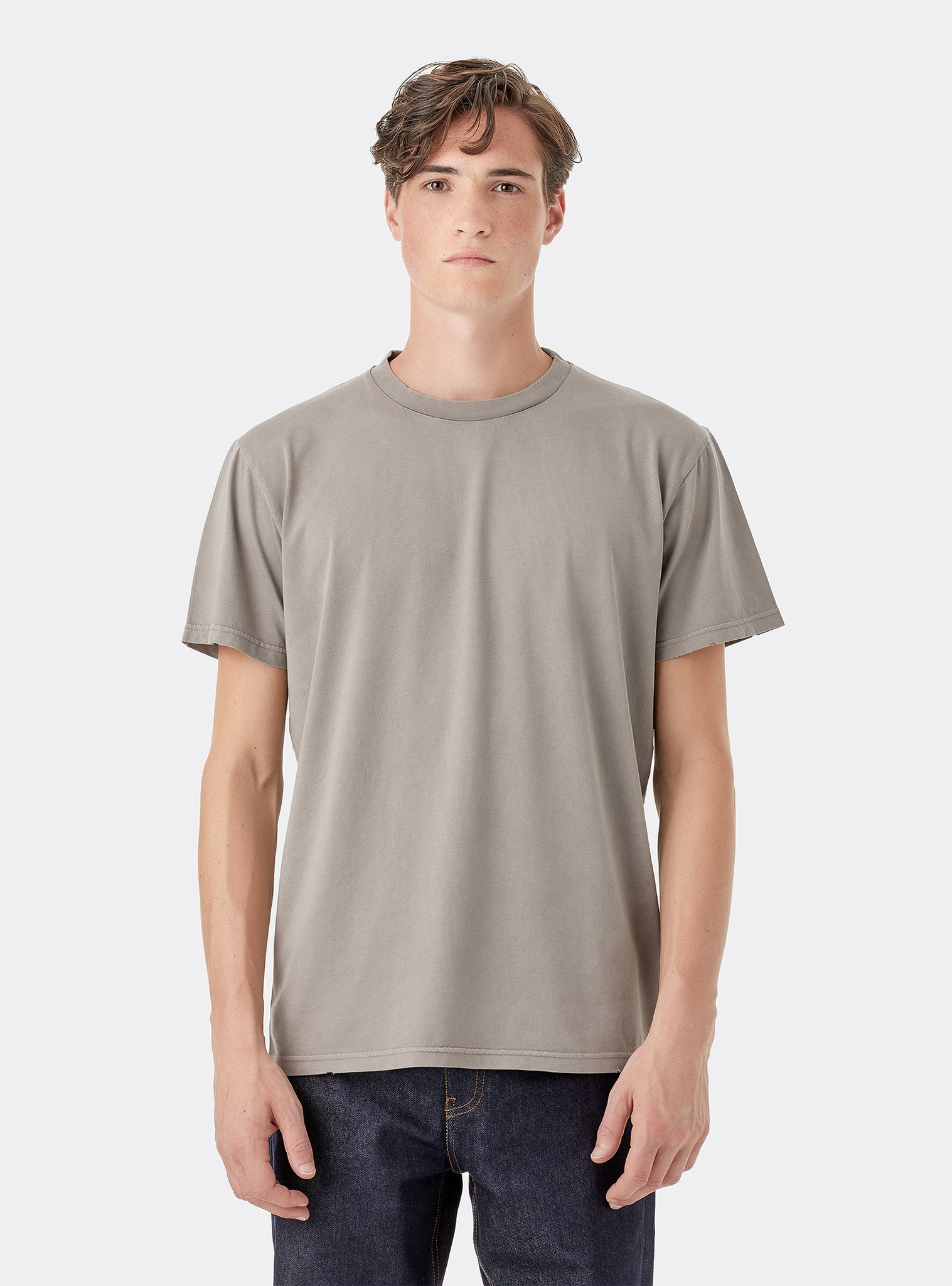 Expect I T-shirt Manches Courtes Gris Clair