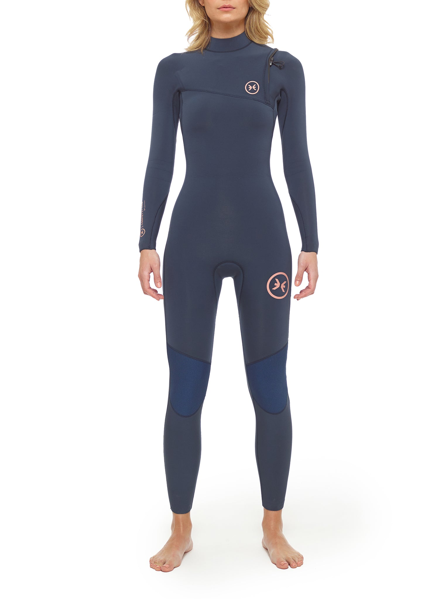Combinaisons De Surf Femme Competition 3/2 Zipperless Bleu