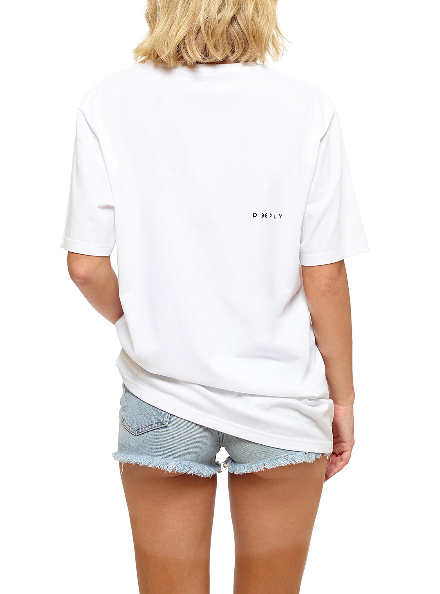 Embroidery T-shirt Manches Courtes Blanc