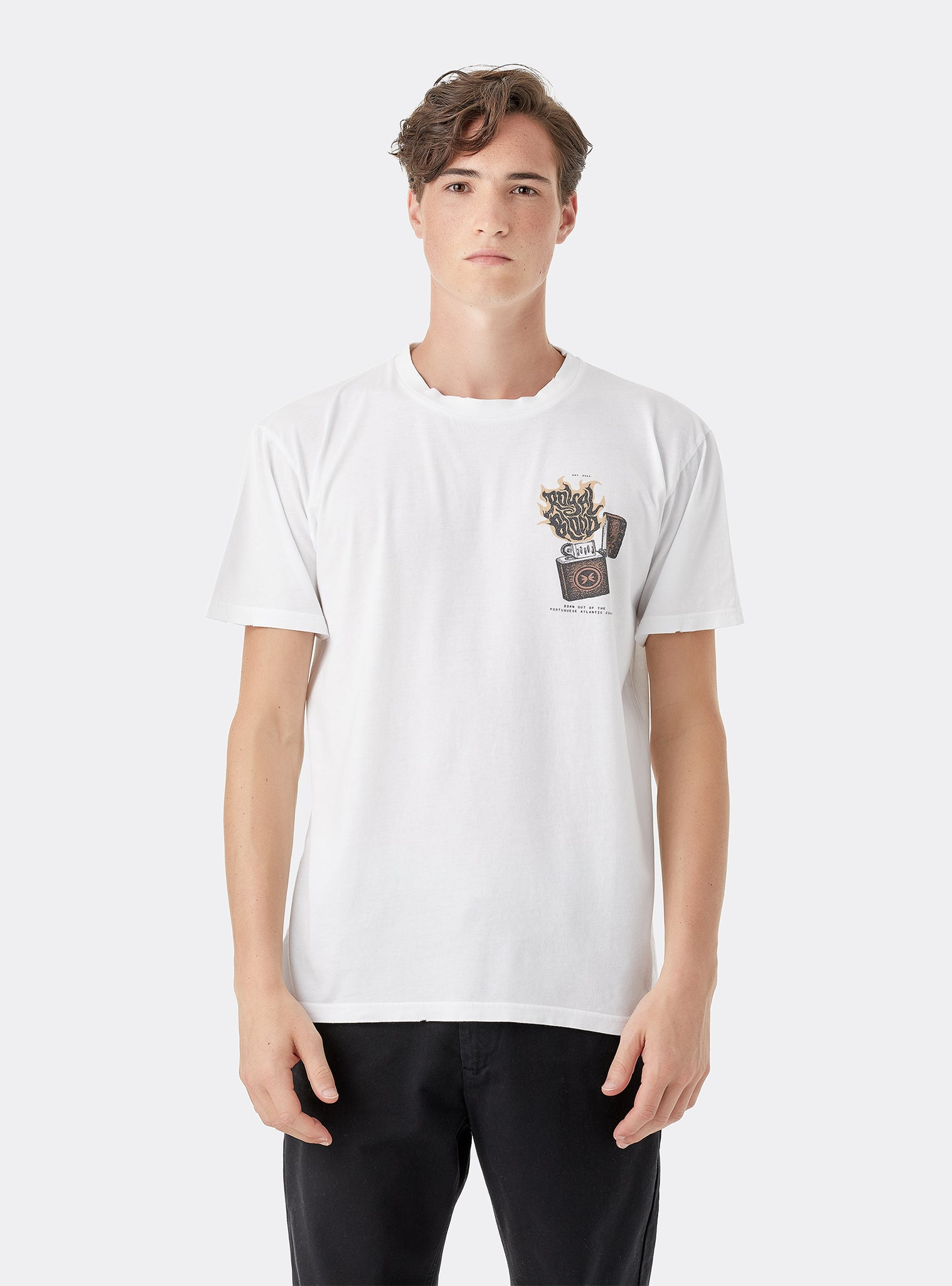 Expect T-shirt Manches Courtes Blanc