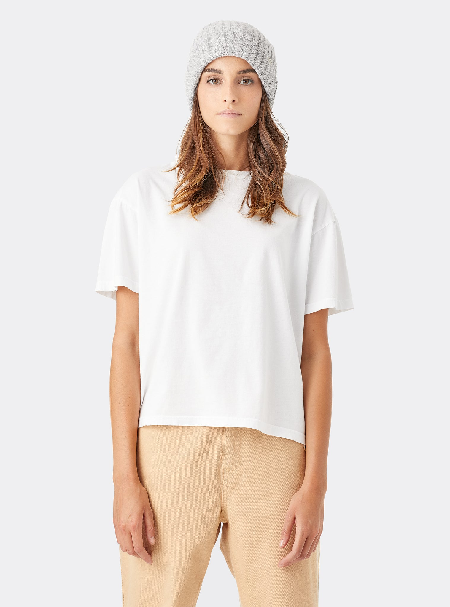 Look I T-shirt Manches Courtes Blanc