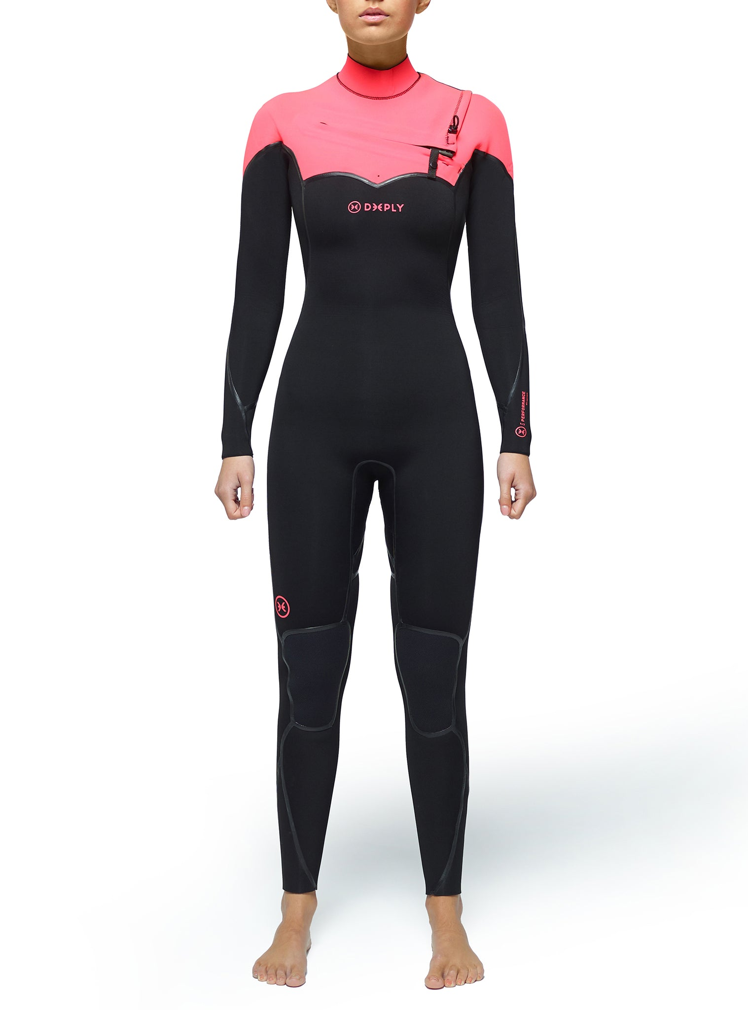 Combinaisons De Surf Femme Performance 4/3 Chest Zip Rose