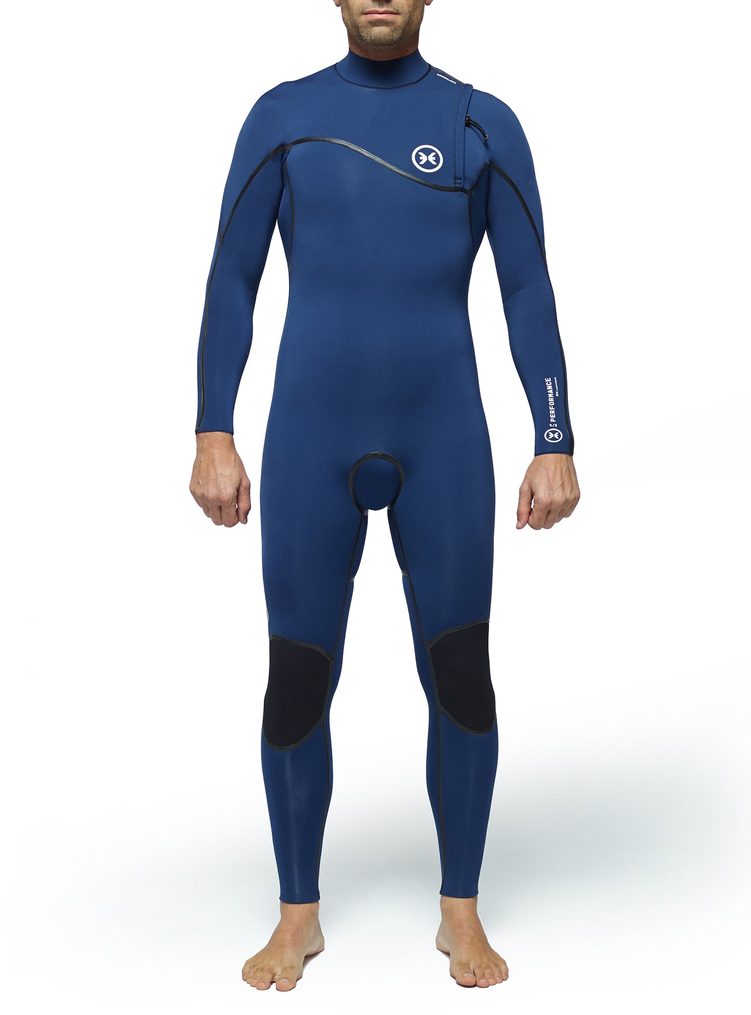 Combinaisons De Surf Homme Performance 4/3 Zipperless Bleu Marine
