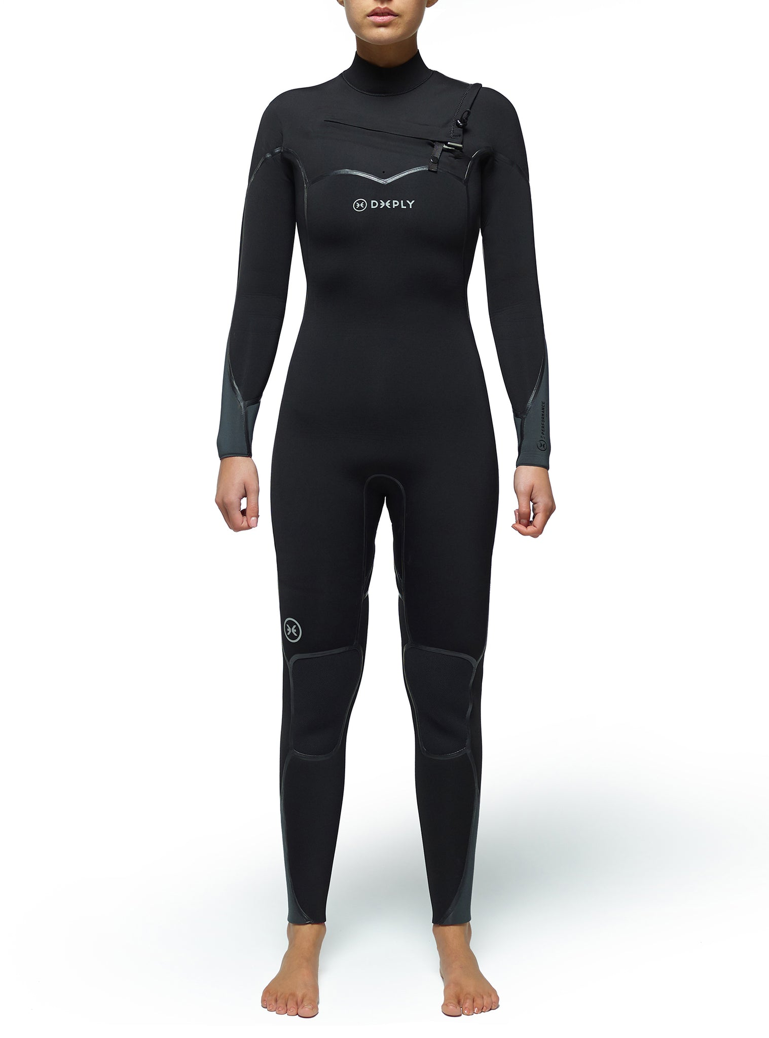 Combinaisons De Surf Femme Performance 5/3 Chest Zip Noir