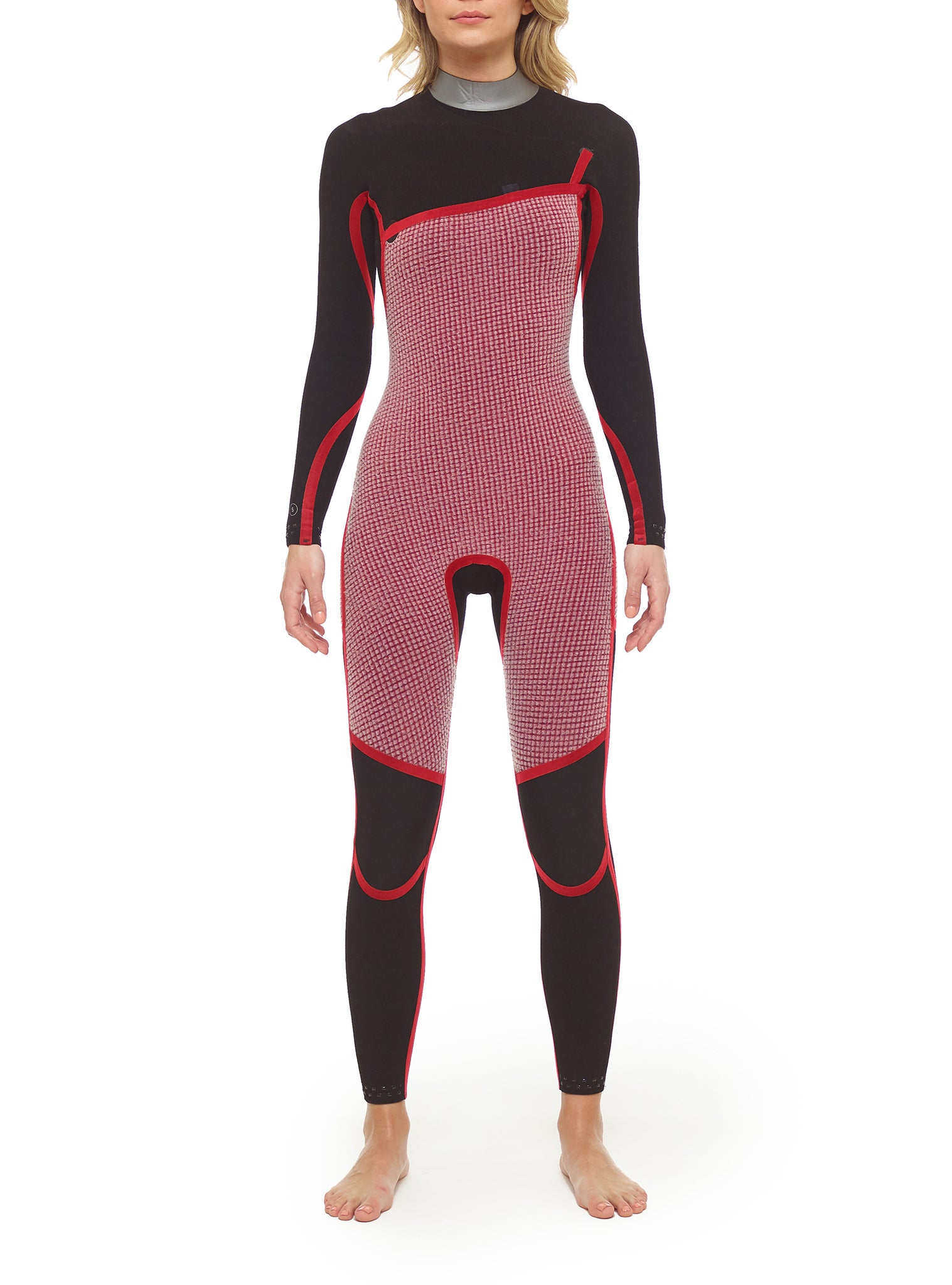Combinaisons De Surf Femme Competition Yulex 4/3 Zipperless Noir