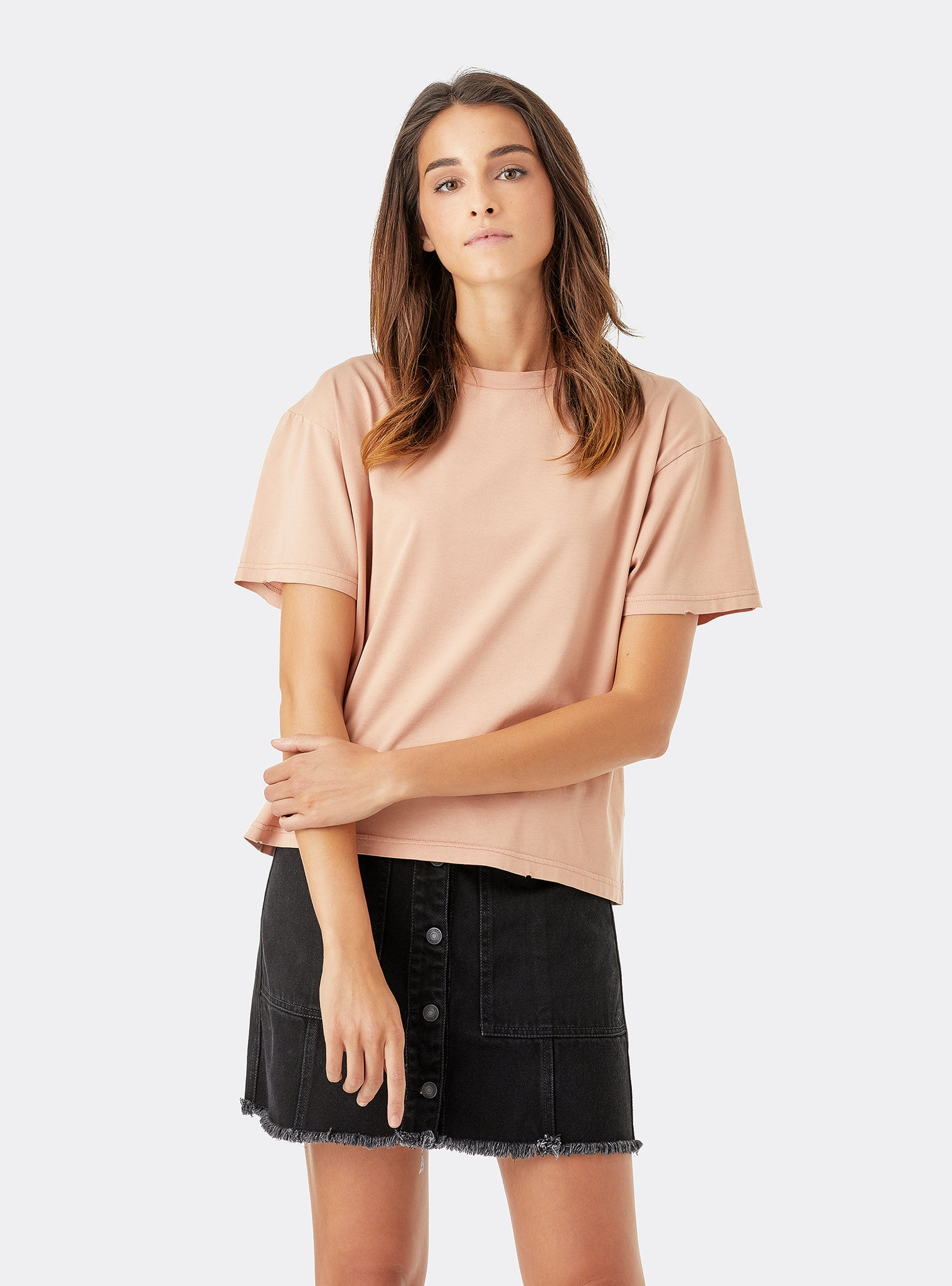 Look Iii T-shirt Manches Courtes Vieux Rose
