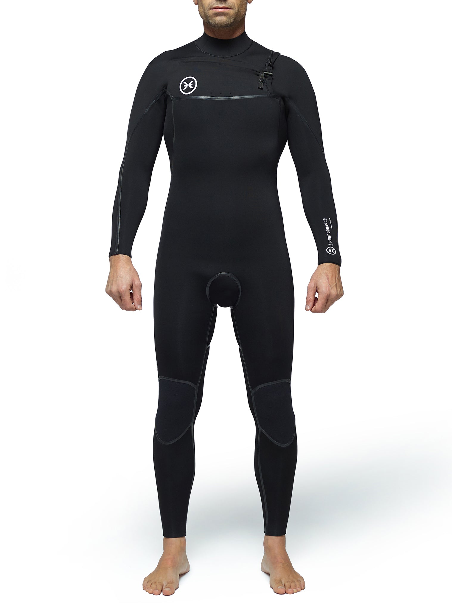 Combinaisons De Surf Homme Performance 4/3 Chest Zip Noir