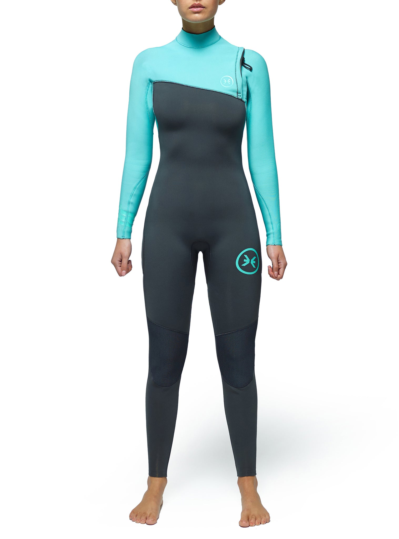 Combinaisons De Surf Femme Competition 3/2 Zipperless Vert