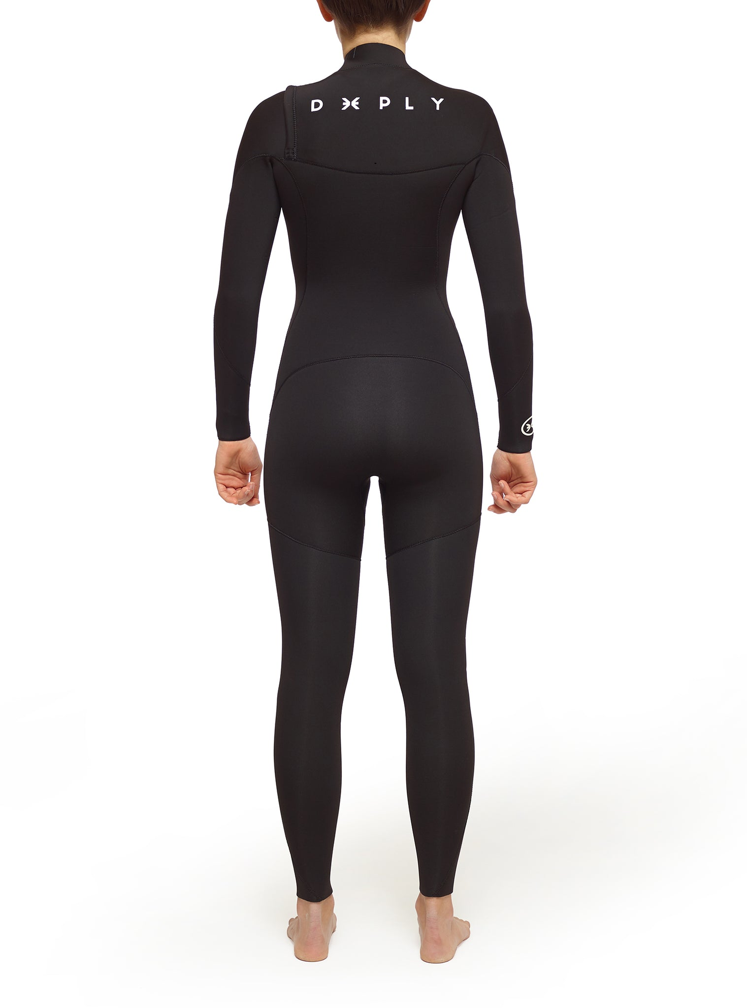 Combinaisons De Surf Femme Pure 4/3 Chest Zip Noir