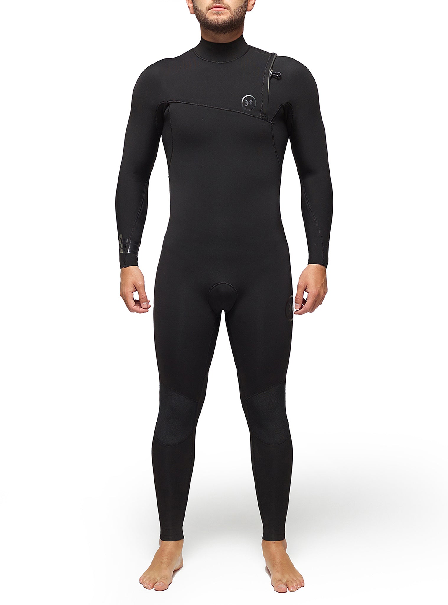 Combinaisons De Surf Homme Competition 3/2 Zipperless Noir