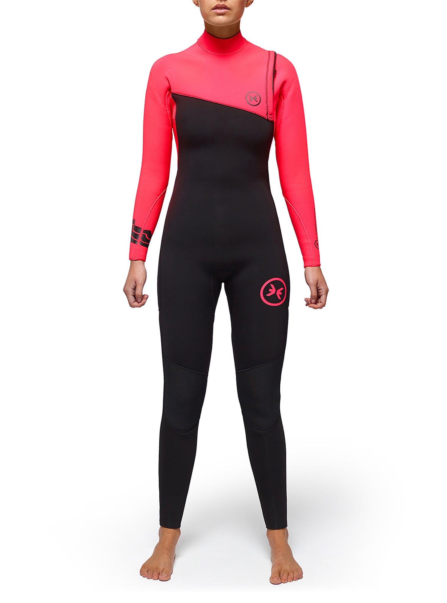 Combinaisons De Surf Femme Competition 4/3 Zipperless Rose