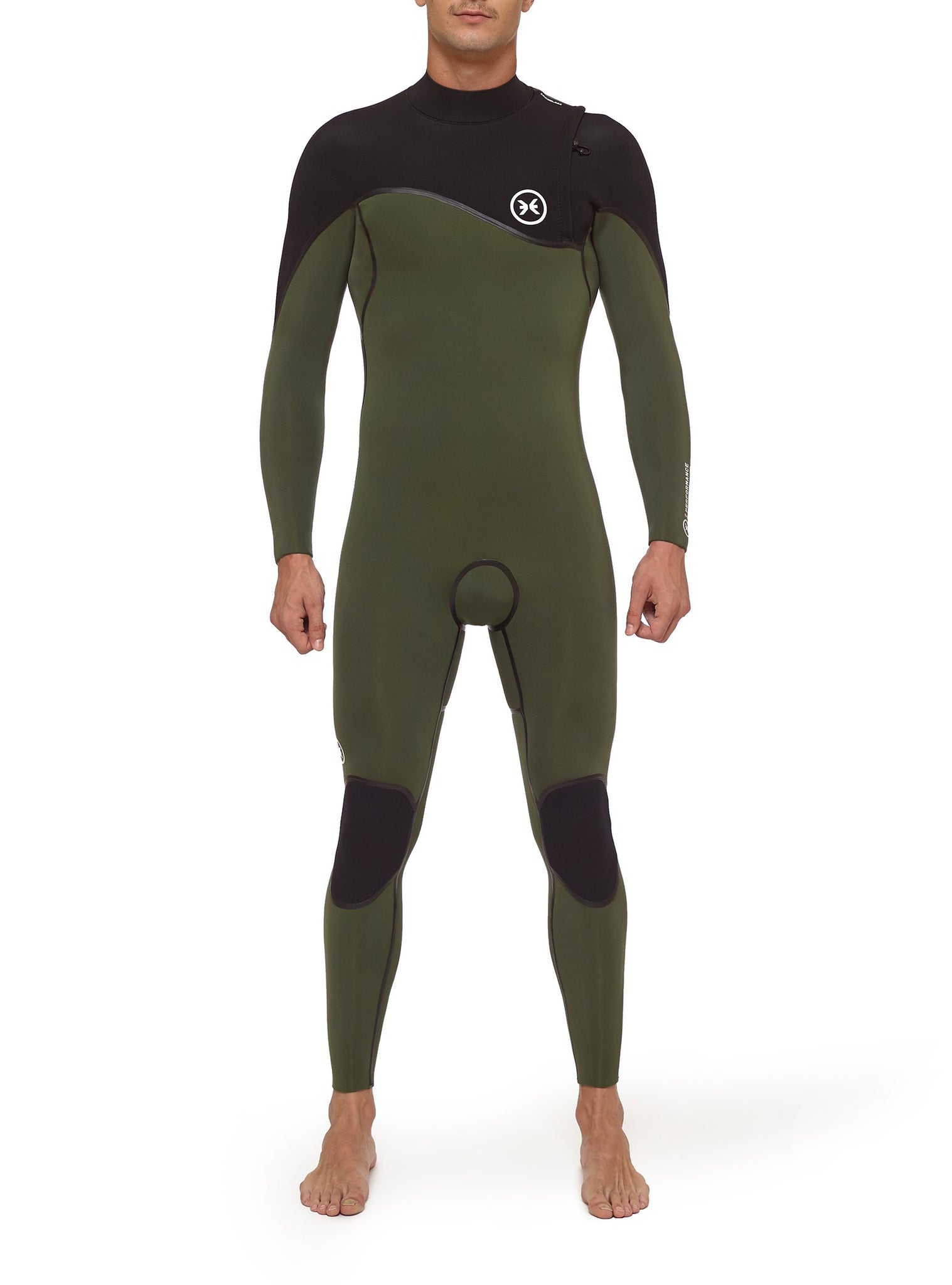 Combinaisons De Surf Homme Performance 4/3 Zipperless Vert