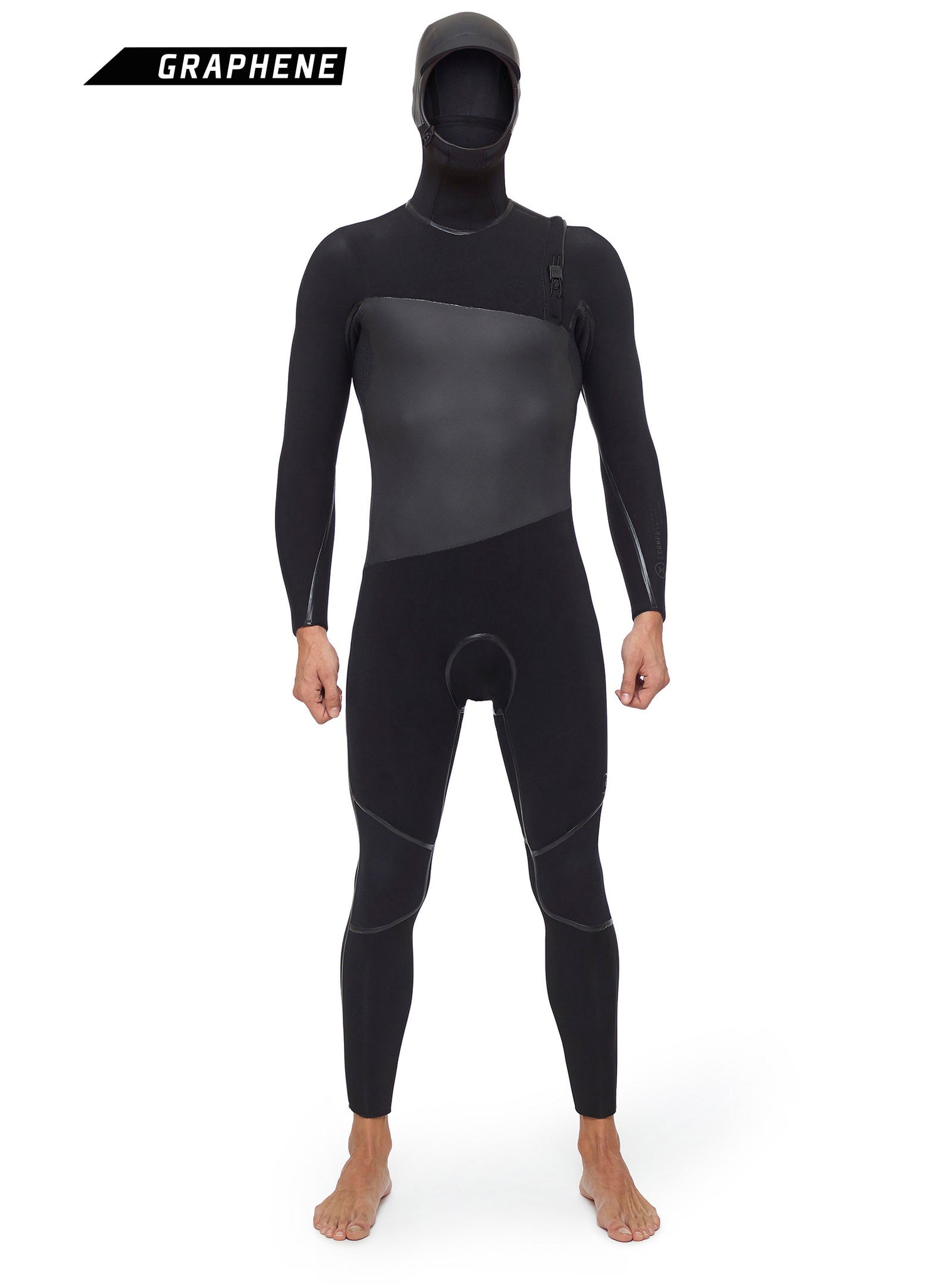 Combinaisons De Surf Homme Competition 5/4 Zipperless Noir