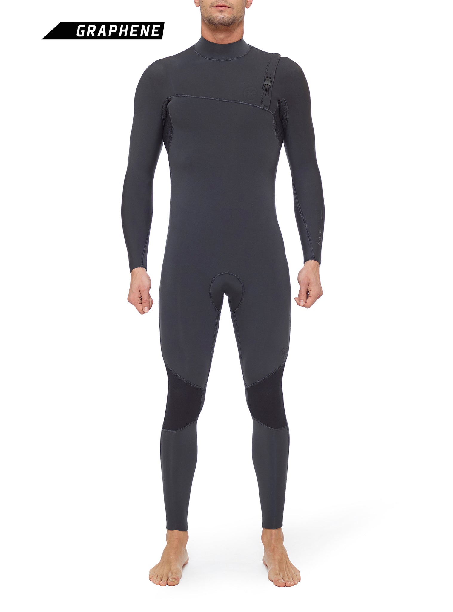 Combinaisons De Surf Homme Competition 4/3 Zipperless Gris