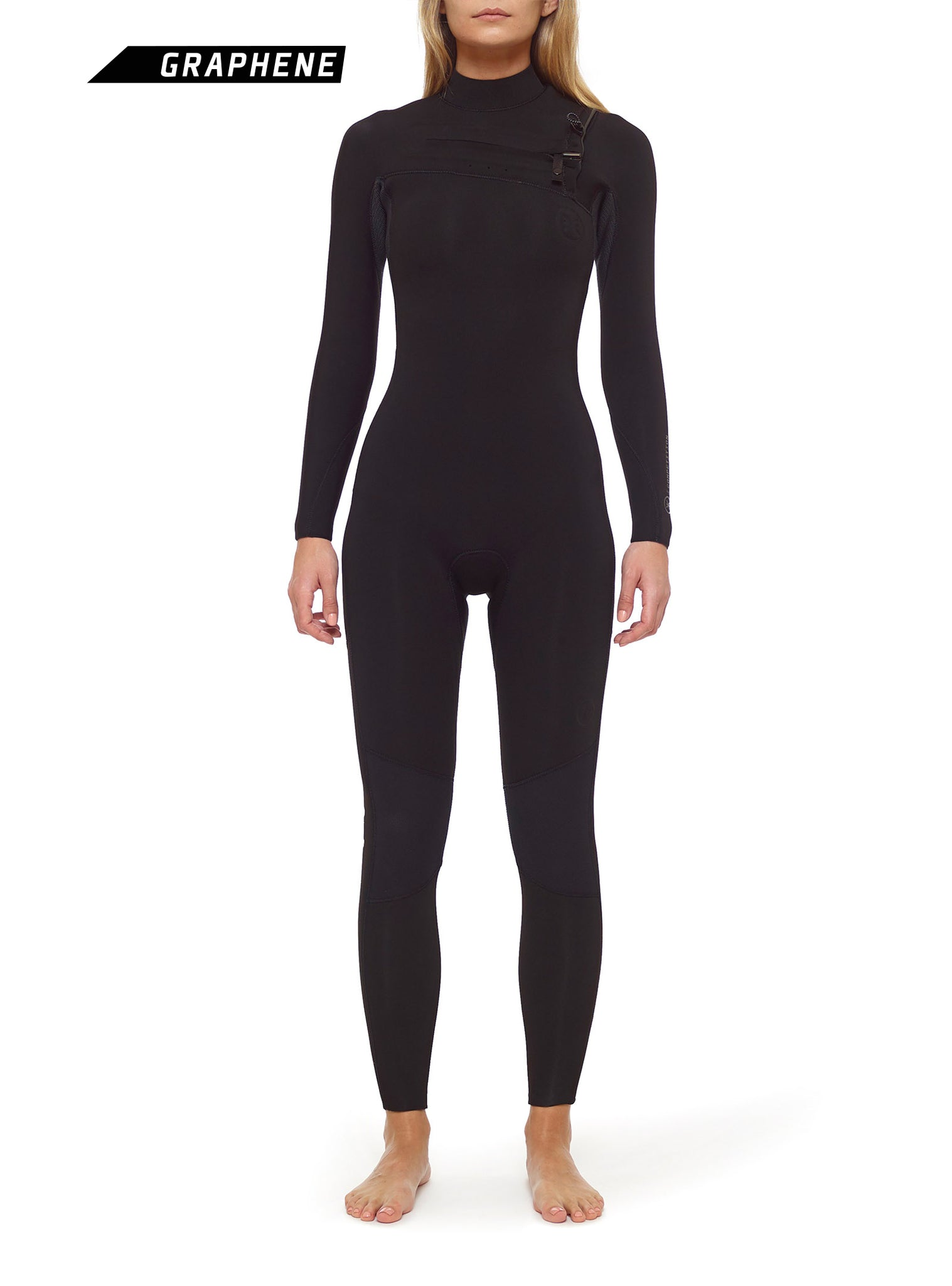 Combinaisons De Surf Femme Competition 4/3 Chest Zip Noir