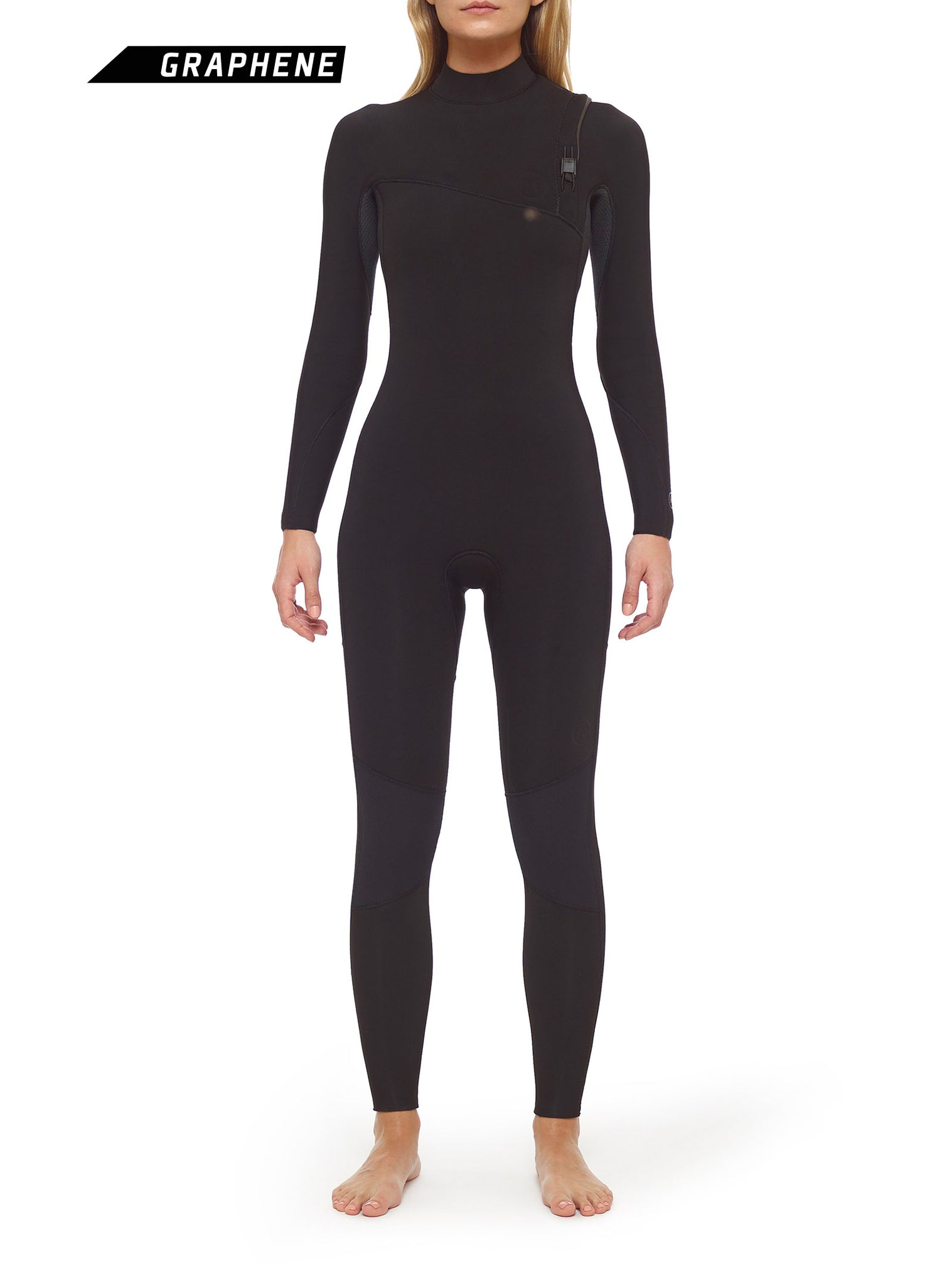 Combinaisons De Surf Femme Competition 4/3 Zipperless Noir