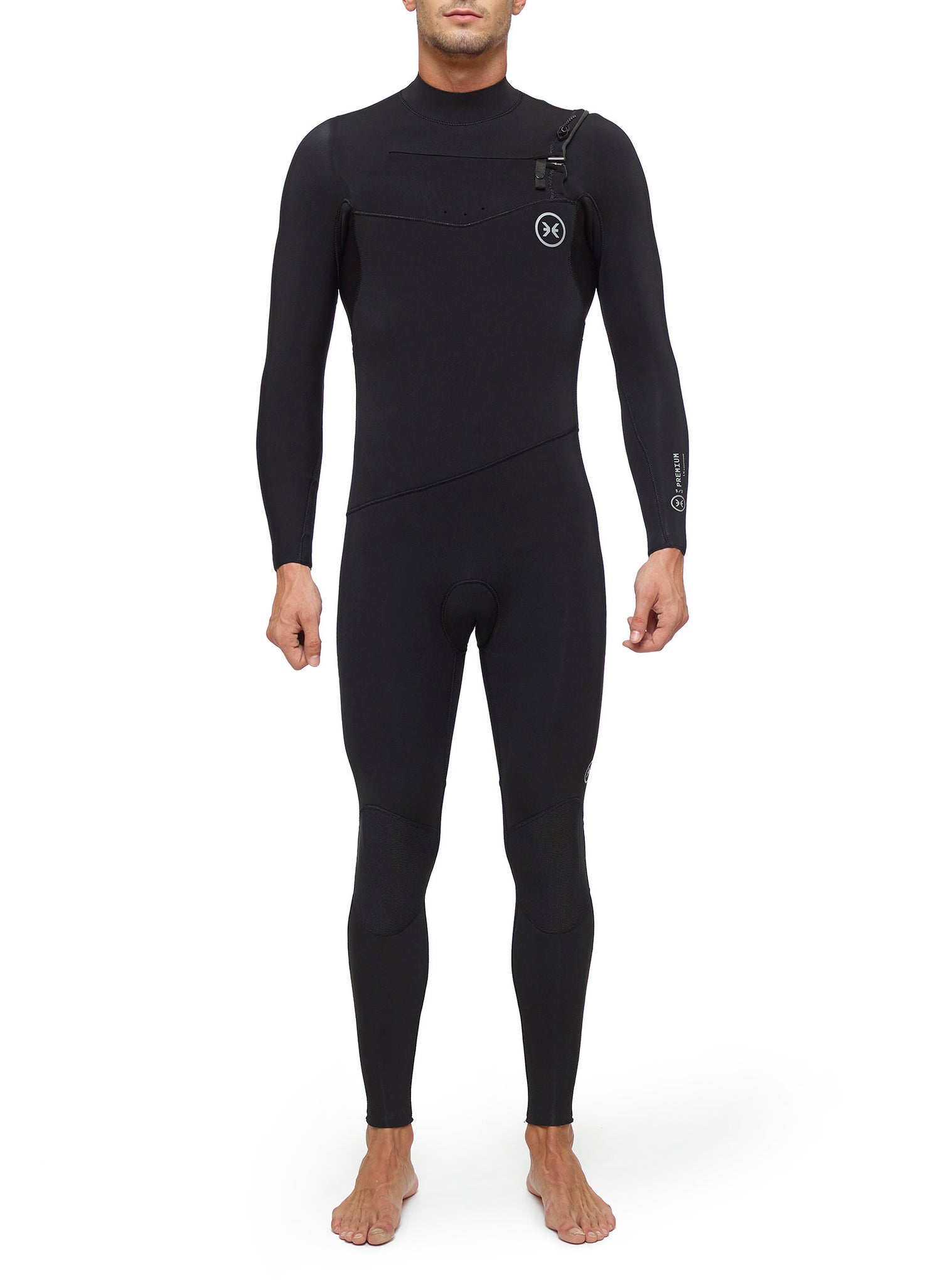 Combinaisons De Surf Homme Premium 5/3 Chest Zip Noir