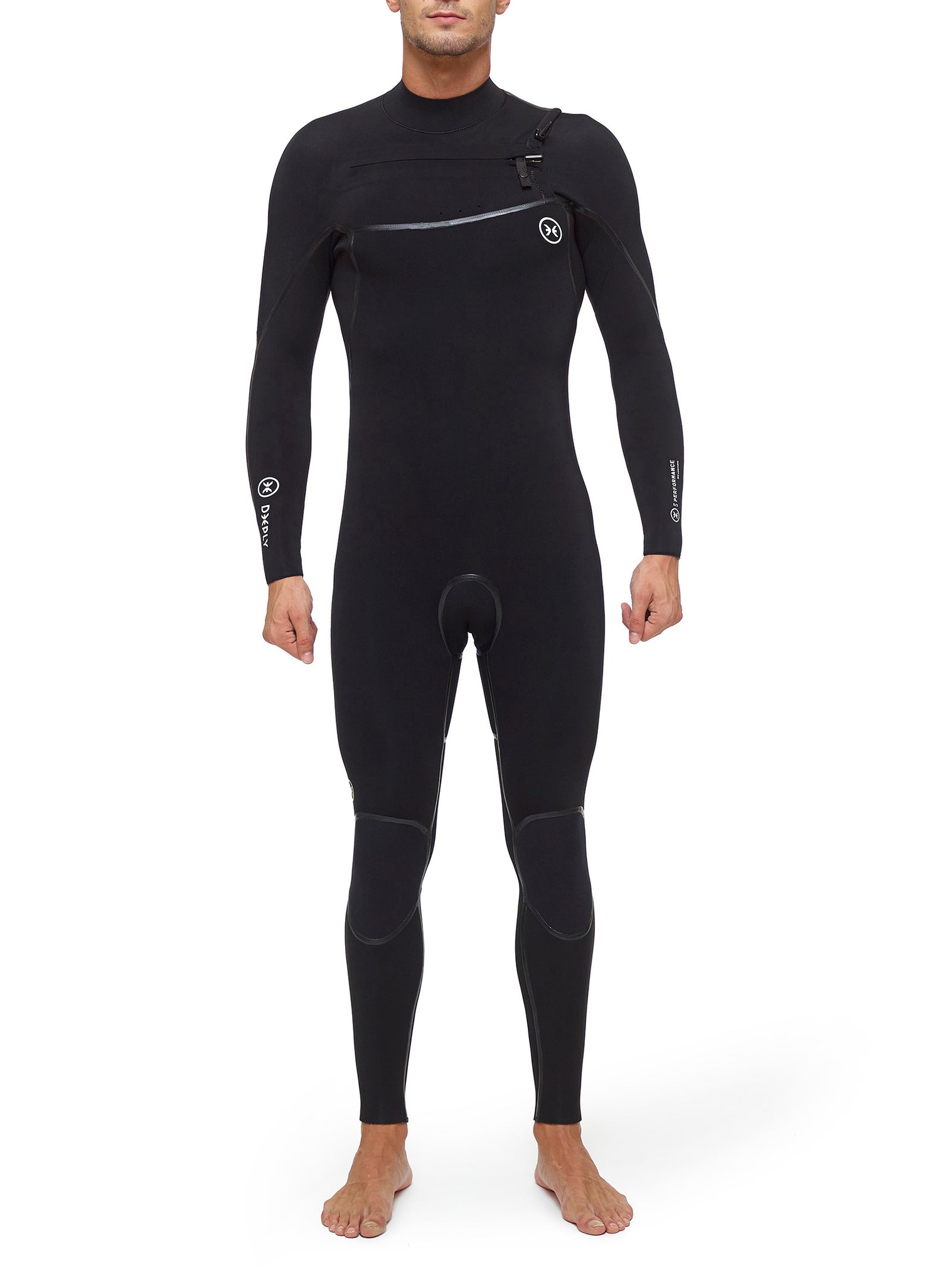 Combinaisons De Surf Homme Performance 5/3 Chest Zip Noir