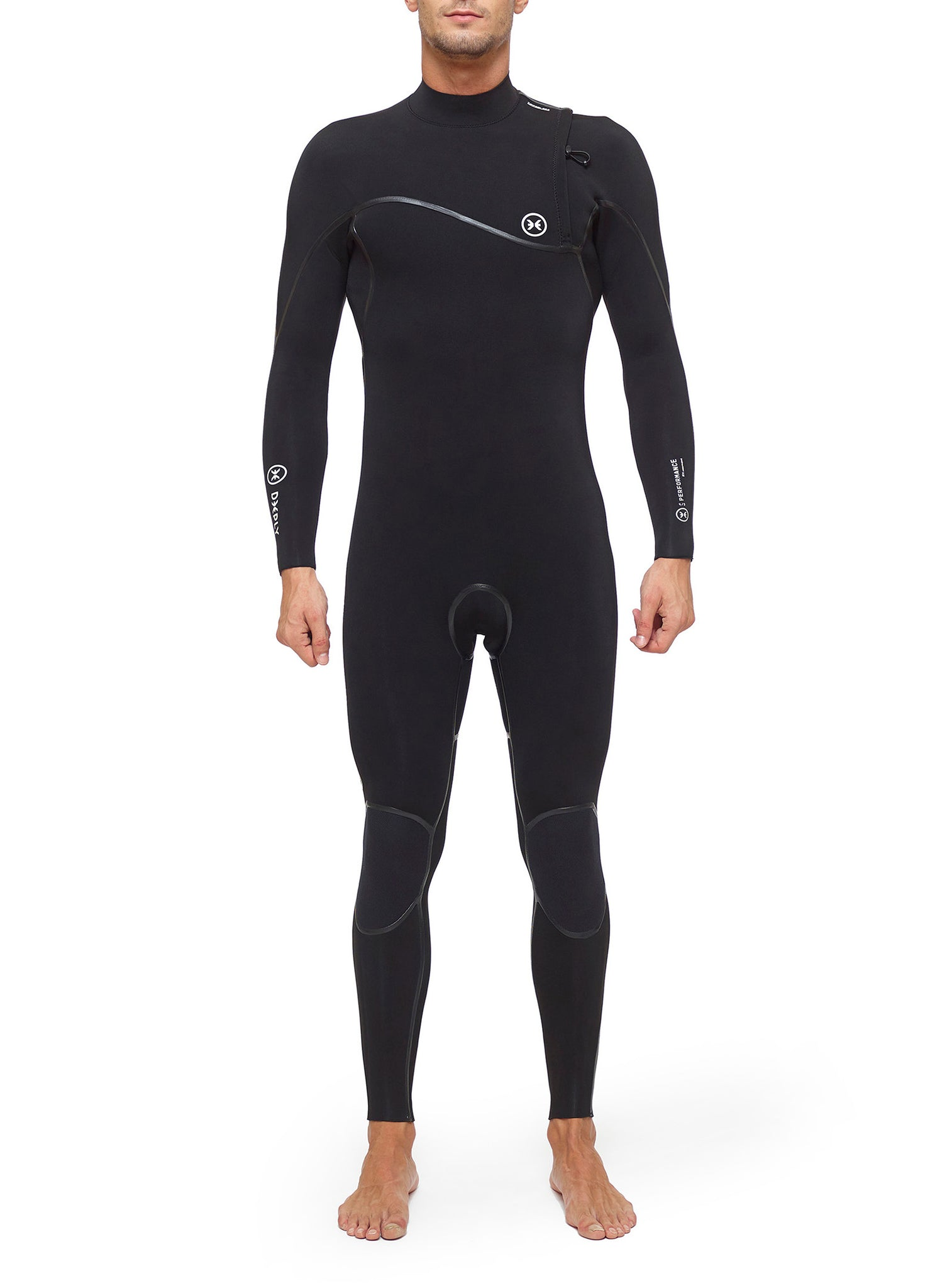 Combinaisons De Surf Homme Performance 4/3 Zipperless Noir