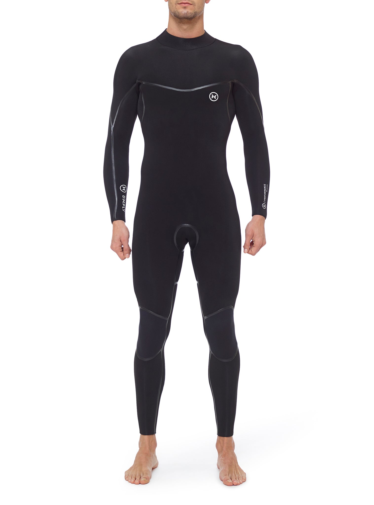 Combinaisons De Surf Homme Performance 4/3 Back Zip Noir