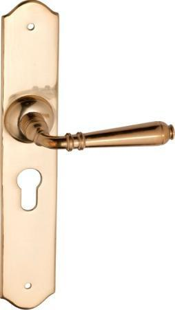 Tradco 'REIMS' LEVER LATCH Polished Brass 240mm x 40mm 0771