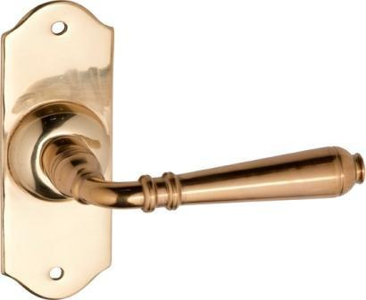 Tradco 'REIMS' LEVER Polished Brass 110mm x 40mm 0773