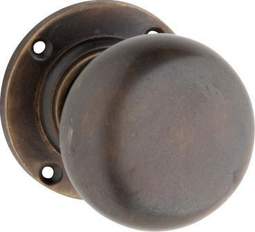 Tradco 'VICTORIAN' MORTICE KNOB Antique Brass 57mm 0784