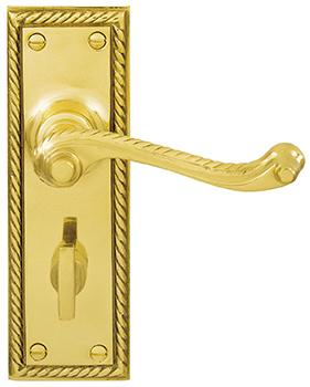DELF ARCHITECTURAL LEVER LATCH FURNITURE GEORGIAN (Privacy Set # 201 installed 