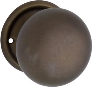 Tradco 'SHEET BRASS' MORTICE KNOB Antique Brass 54mm 0853