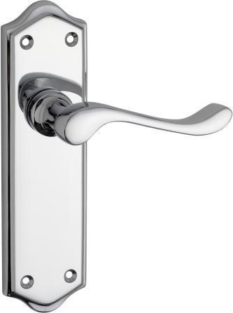 Tradco 'HENLEY' LEVER LATCH Chrome 180mm x 50mm 0874