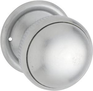 Tradco 'MORTICE KNOB' MILLED EDGE Satin Chrome 45mm 0888