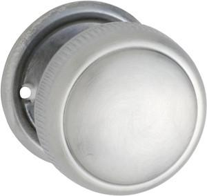 Tradco 'MORTICE KNOB' MILLED EDGE Satin Chrome 52mm 0889