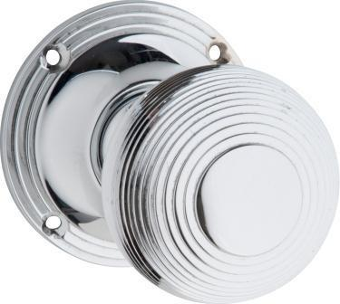 Tradco 'REEDED' MORTICE KNOB Chrome Plate 51mm BP60mm 0909