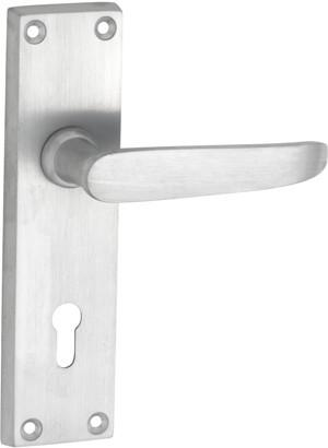Tradco 'BALMORAL' LEVER LOCK Satin Chrome 156mm x 42mm 0978