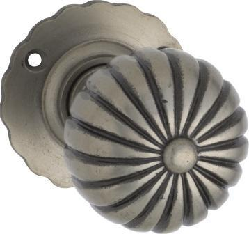 Tradco 'IRON' FLUTED MORTICE KNOB Metallic Powdercoat 55mm BP60mm 1013