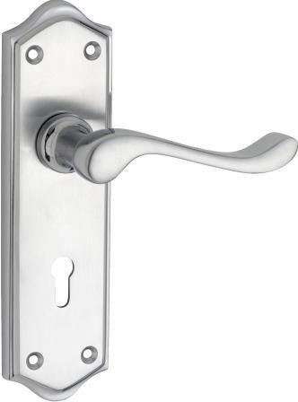 Tradco 'HENLEY' LEVER LOCK Satin Chrome 180mm x 50mm 1095
