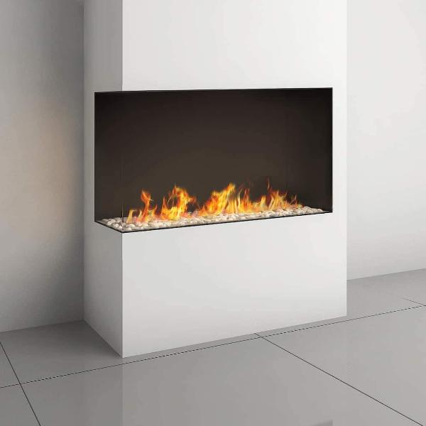 Ortal Corner Clear 110H Right/Left Side Gas Fireplace