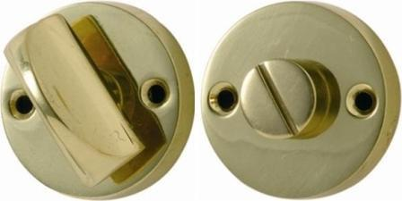 Tradco 'ROUND PRIVACY TURN' Polished Brass 35mm 1157