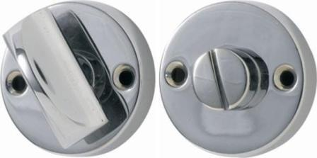 Tradco 'ROUND PRIVACY TURN' Chrome Plate 35mm 1169