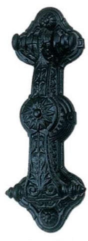 Tradco 'FEDERATION DOOR KNOCKER' Iron Matt Black 230mm x 80mm 1270