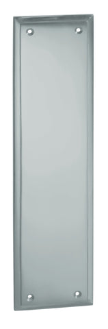 Tradco 'MILTON FINGER PLATE' Satin Chrome 1276 300mm x 75mm