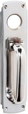 Tradco 'PULL HANDLE/KNOCKER' Chrome Plate 1299 240mm x 60mm