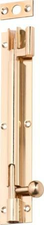 Tradco 'BARREL BOLT-OFFSET' Polished Brass 1346 150mm X 25mm