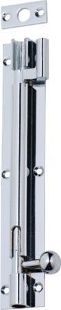 Tradco 'BARREL BOLT-OFFSET' Chrome Plate 1348 150mm x 25mm