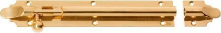 Tradco 'BARREL BOLT' Polished Brass 1403 200mm x 32mm