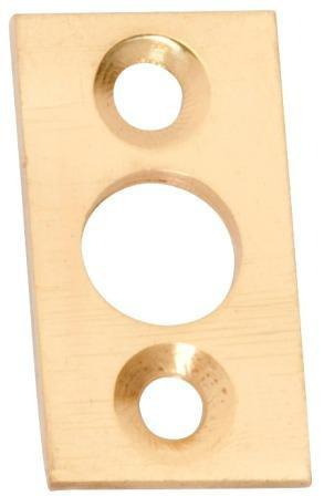 Tradco 'PLATE KEEPER' Polished Brass 1405 32mm x 15mm